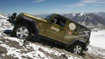 Jeep Wrangler Unlimited climbs highest vulcano