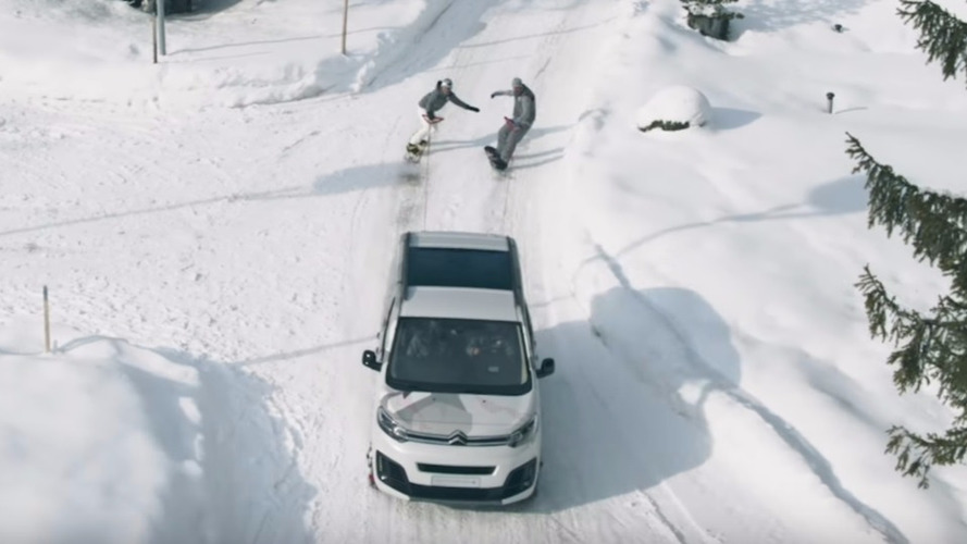 VIDÉO - Le Citroën SpaceTourer 4X4 Ë Concept en classe de neige