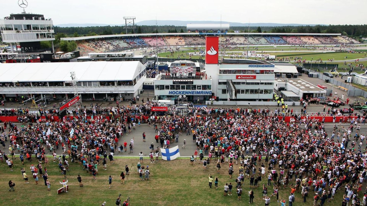 The crowd invade the circuit at the podium, 20.07.2014, German Grand Prix, Hockenheim / XPB