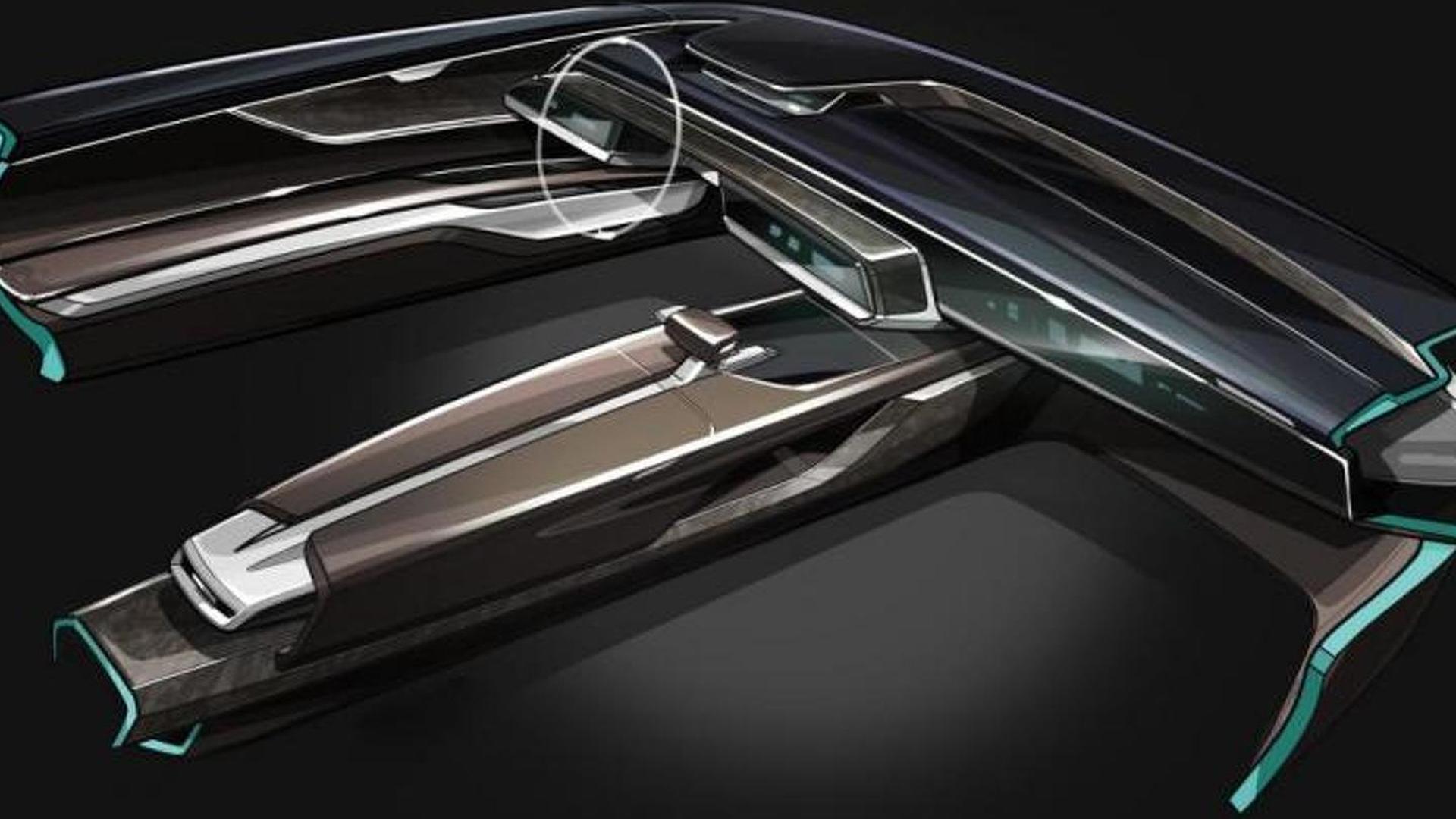 Наброски дизайна салона Audi Prologue Avant