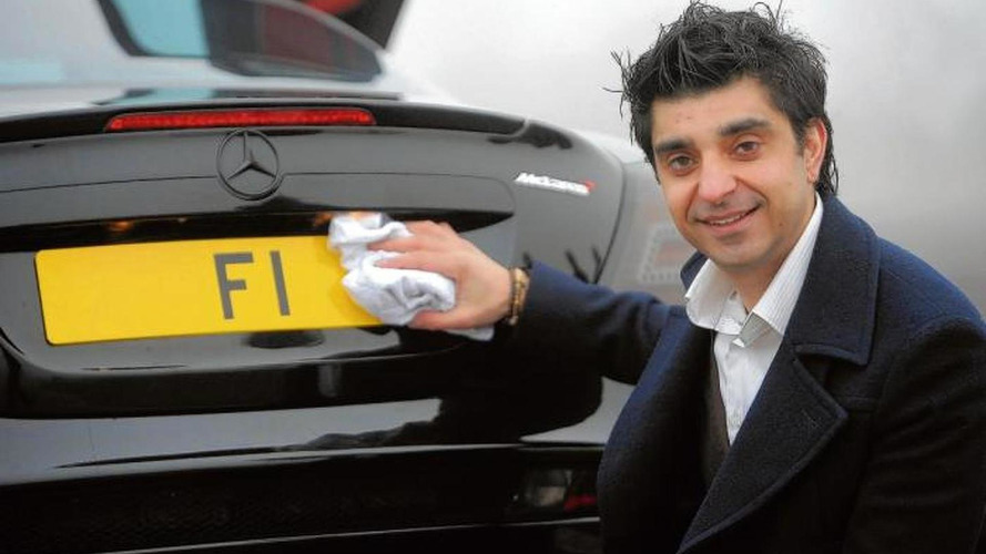 Kahn Design owner selling 'F1' license plate for 10M GBP