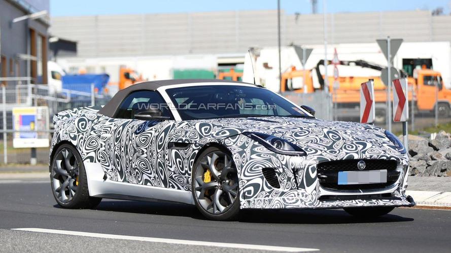 Jaguar F-Type R Roadster spied on the Nurburgring