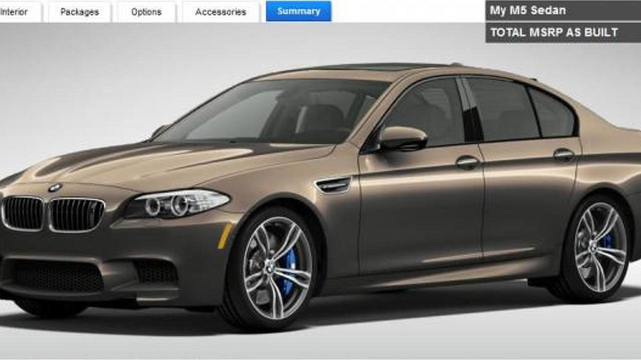 2013 BMW M5 configurator