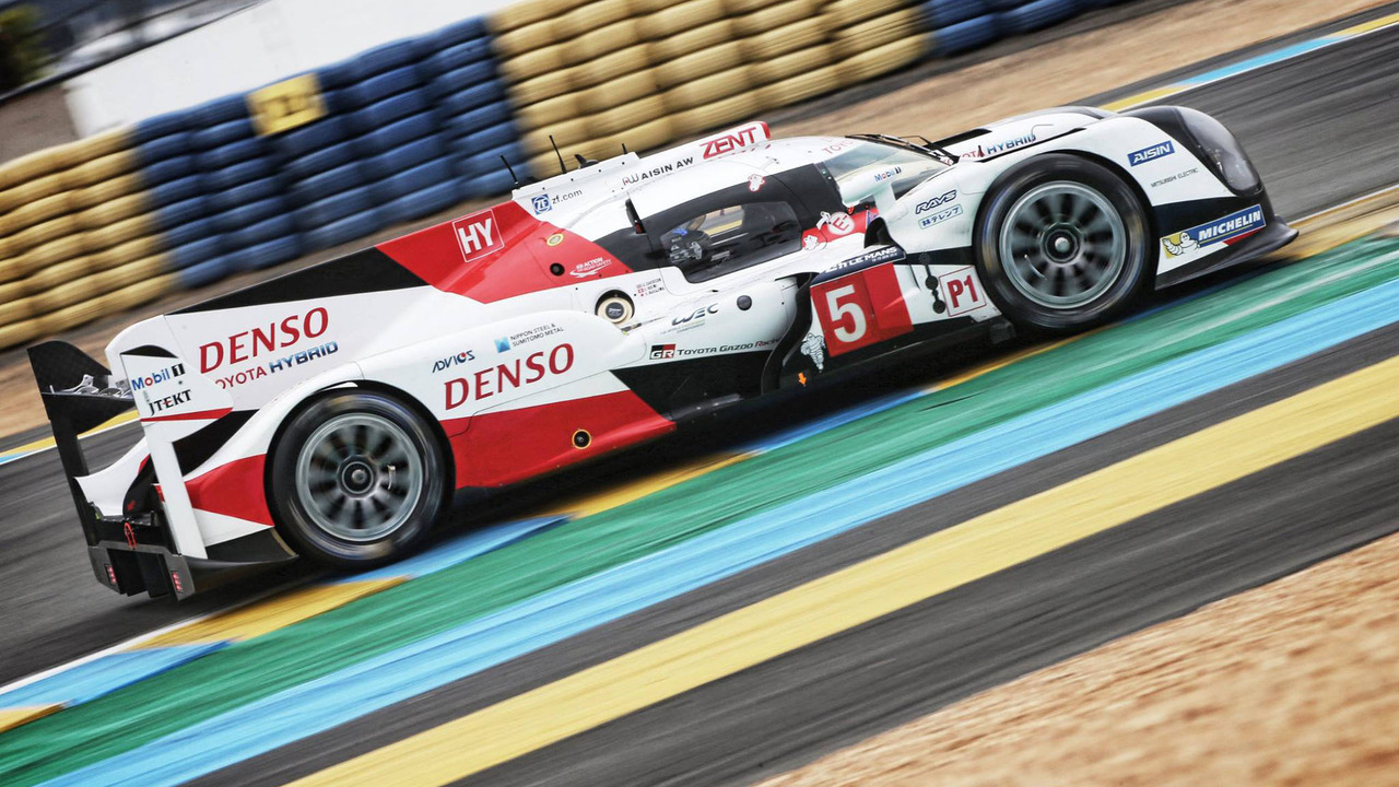 Toyota TS050 Le Mans racing car