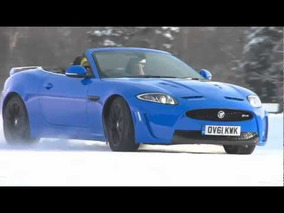 Jaguar XKR-S Convertible on Ice