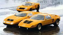 Mercedes-Benz C111 right, C111/II middle, C111/I back 1970