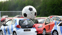 Football Playing Toyota Aygo Paraded in London