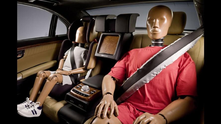 Mercedes-Benz também produzirá cintos de segurança com airbags integrados
