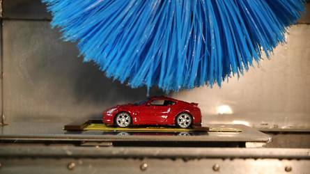 Nissan has developed a mini car wash to test its paint