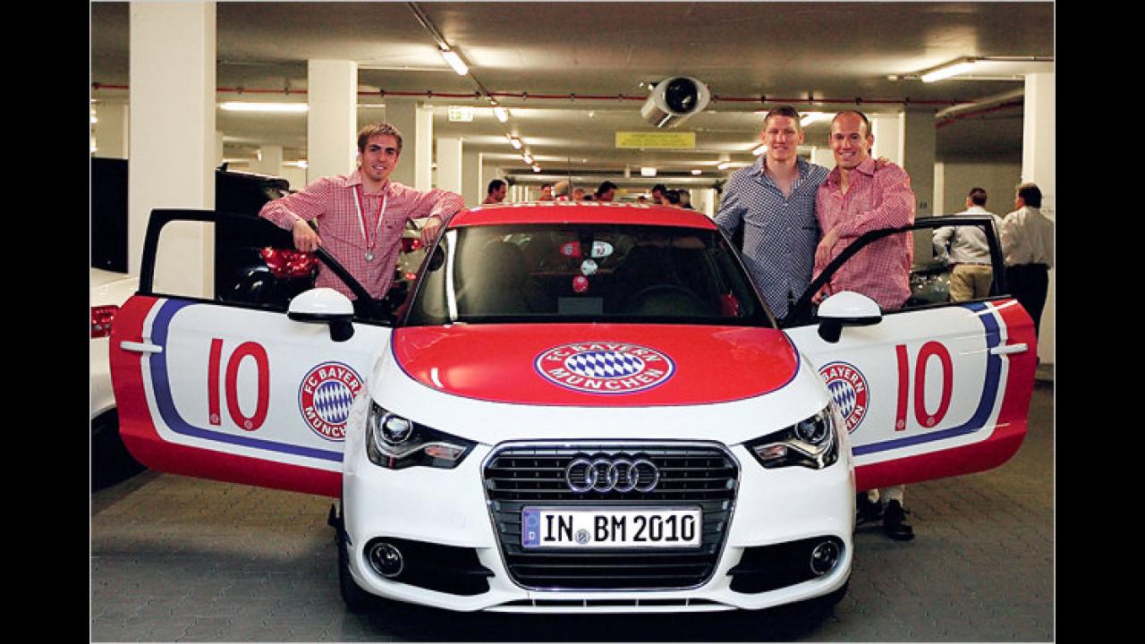 Philipp Lahm, Bastian Schweinsteiger und Arjen Robben