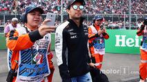 Sergio Perez, Sahara Force India F1 on the drivers parade