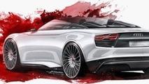 Audi e-Tron Spyder concept leaked image
