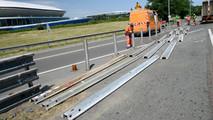 Préparation du circuit des 24 Heures du Mans