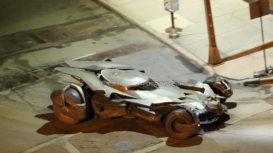 Best look yet at new Batmobile, caught during filming for Batman vs Superman: Dawn of Justice