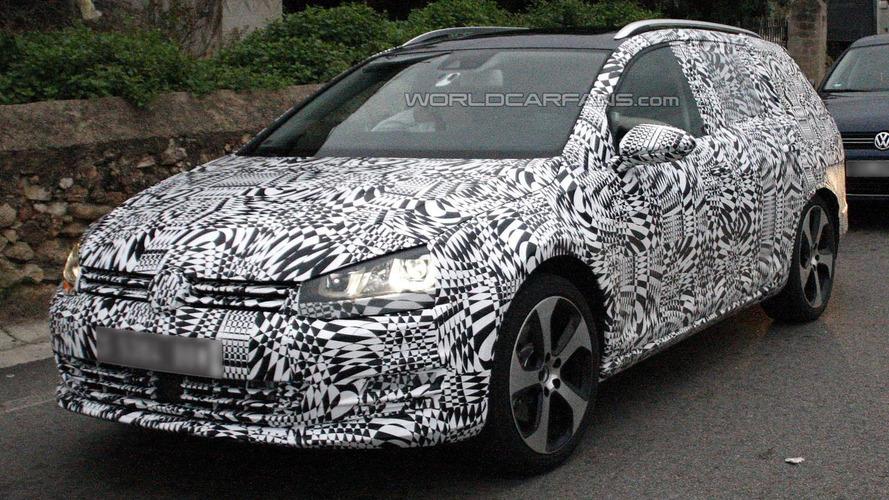 2014 Volkswagen Golf VII Estate spied testing [video]