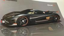 Koenigsegg One:1 revealed in design drawings