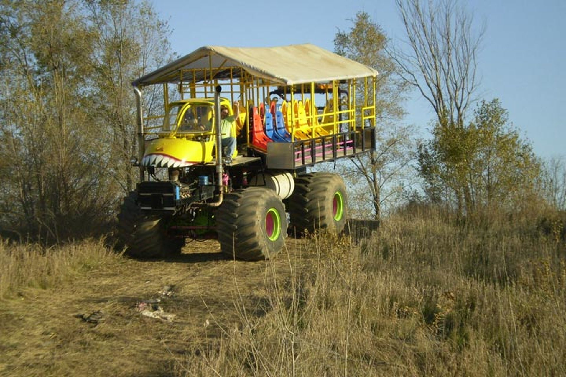 Make this 28-Seat Monster Truck Yours for Only $600K