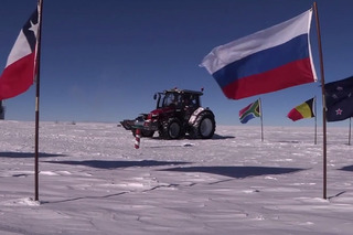 Watch Tractor Girl Reach the South Pole After 1,550 Mile Trek