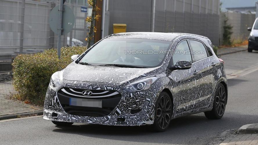 2016 Hyundai i30 N prototype spied wearing N-branded camouflage