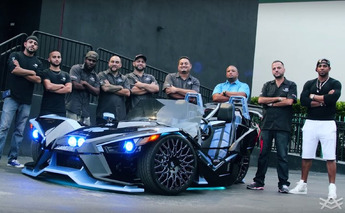 Three-Wheeled Polaris Slingshot Customized With Help From MLB's Yoenis Cespedes