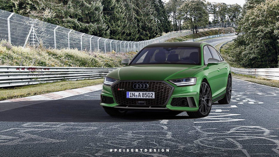Audi RS8 Rendering Looks Mean, Is Green