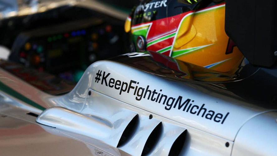 'Fight' sticker to stay on Mercedes after Schumacher coma