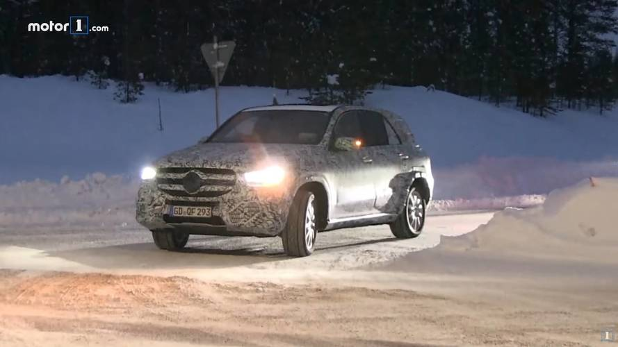 Multiple 2019 Mercedes GLE Prototypes Spied Cruising On Snowy Roads