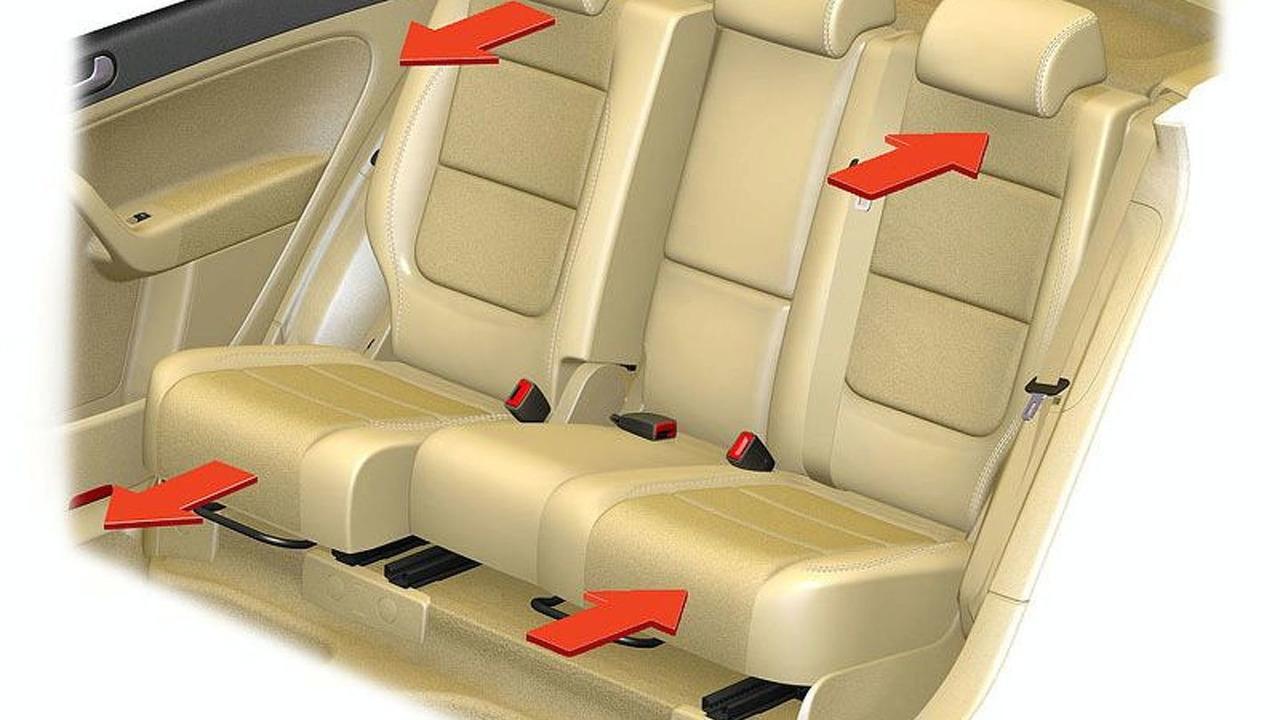 Golf Plus versatility rear seats