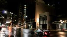 A Benetton F1 car in the streets of Adelaide