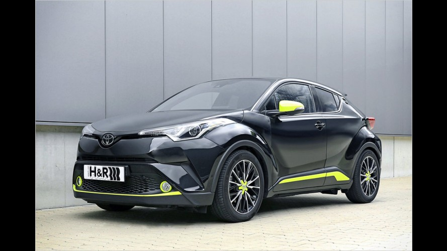 Den Toyota C-HR mit Sportfedern in Lauerstellung bringen