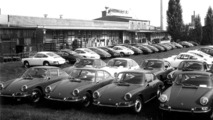 Porsche 911 in front of the Plant 2 at Zuffenhausen, 1965 - 17.03.2010