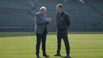 Neil Stubley, Wimbledon Head Groundsman with Ian Callum, Jaguar Director of Design