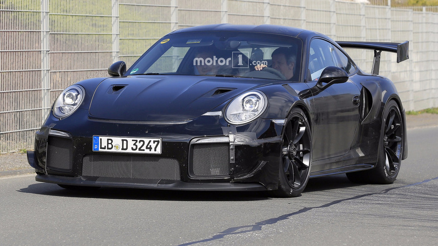 2018 porsche 911 gt2 new spy photos from the nurburgring. Black Bedroom Furniture Sets. Home Design Ideas