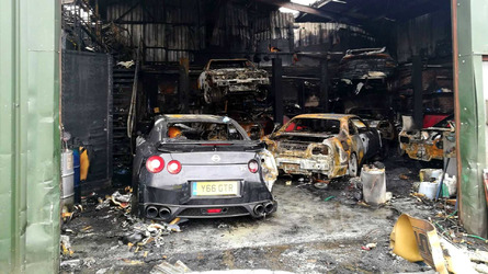 Nissan GT-R Specialty Shop Burns Down Including Customer Cars