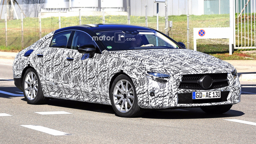 2018 Mercedes CLS Camo Striptease Continues In 25 New Spy Shots