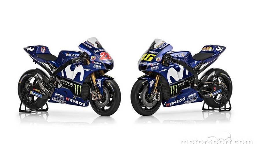 Yamaha presenta los colores de la moto 2018 de Rossi y Viñales