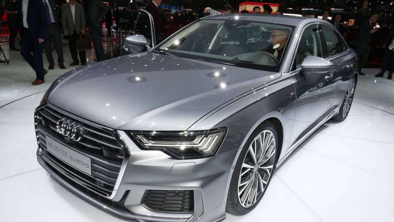 audi a6 at the 2018 geneva motor show photos. Black Bedroom Furniture Sets. Home Design Ideas