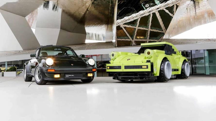 Porsche 911 Turbo 3.0, con piezas de Lego, a escala natural