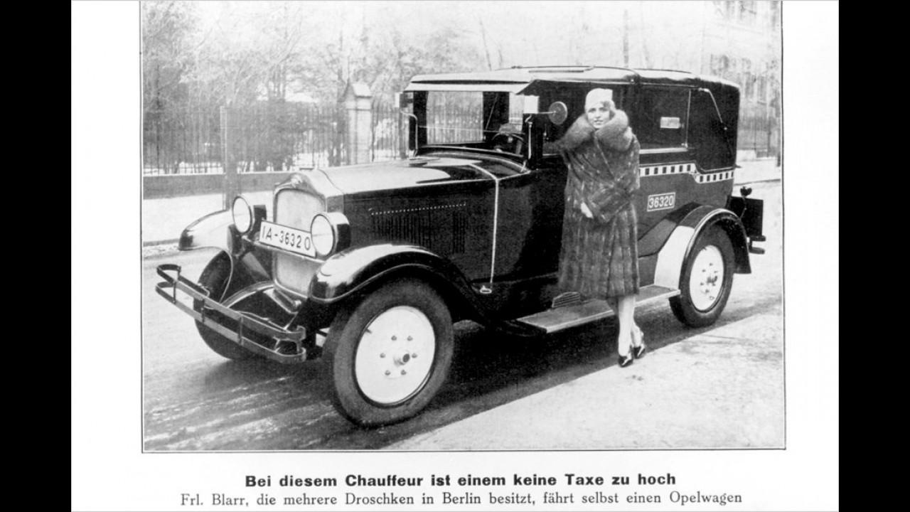 Die erste deutsche Taxifahrerin
