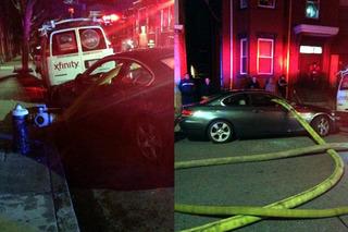 BMW Blocks Hydrant, Boston Firefighters Go Right Through It