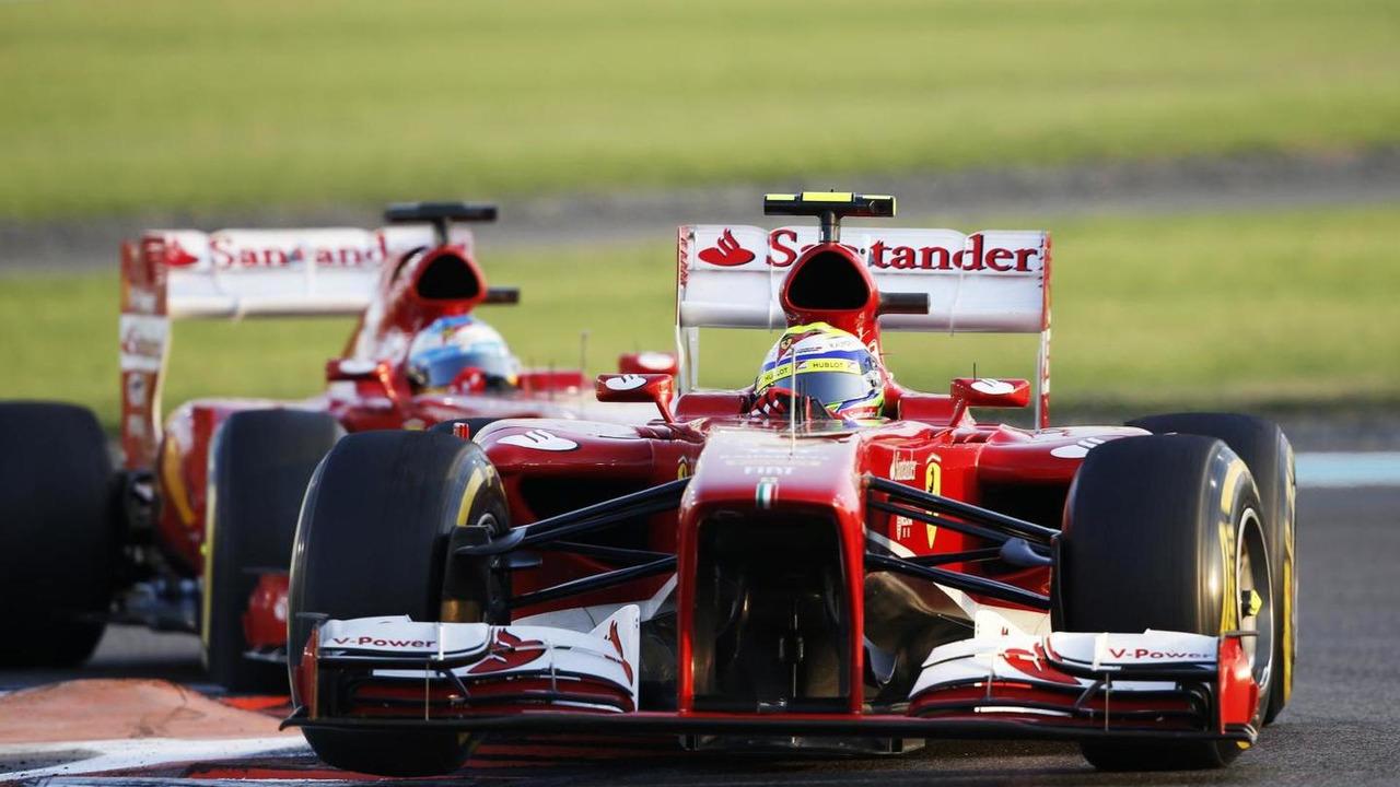 Felipe Massa leads Fernando Alonso 03.11.2013 Abu Dhabi Grand Prix