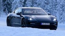 Porsche Mission E kış testi casus fotoğraf