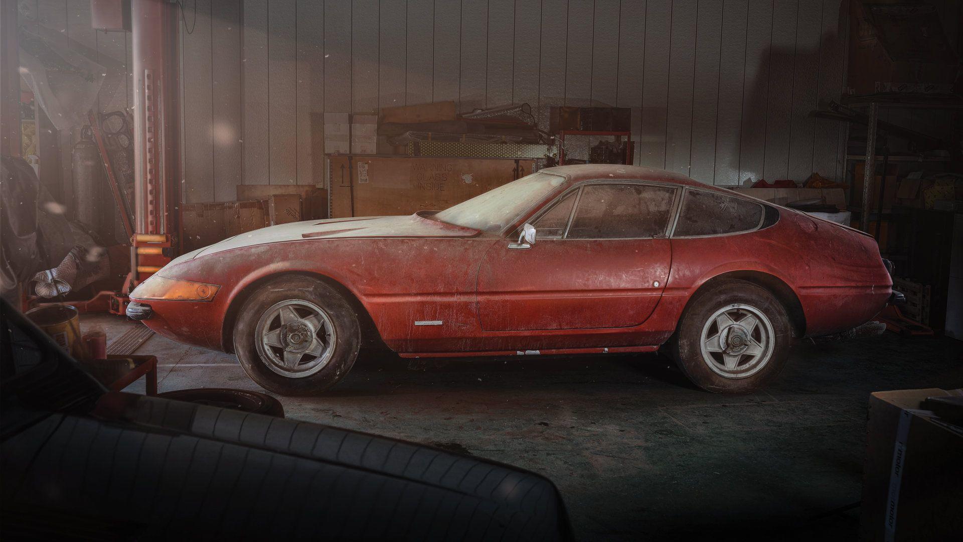Ferrari Daytona Alloy Barn Find Brings 2 1m At Auction