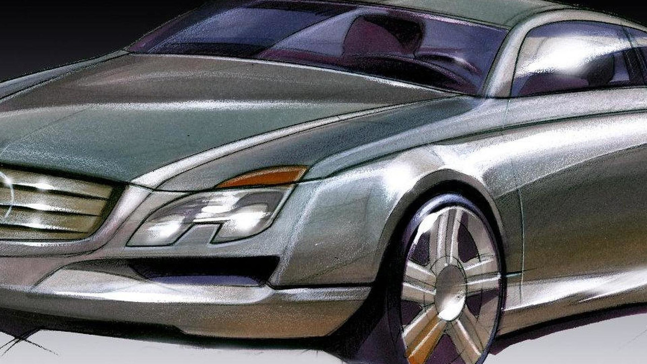2010 Mercedes-Benz E-Class Coupe design sketch 04.03.2009