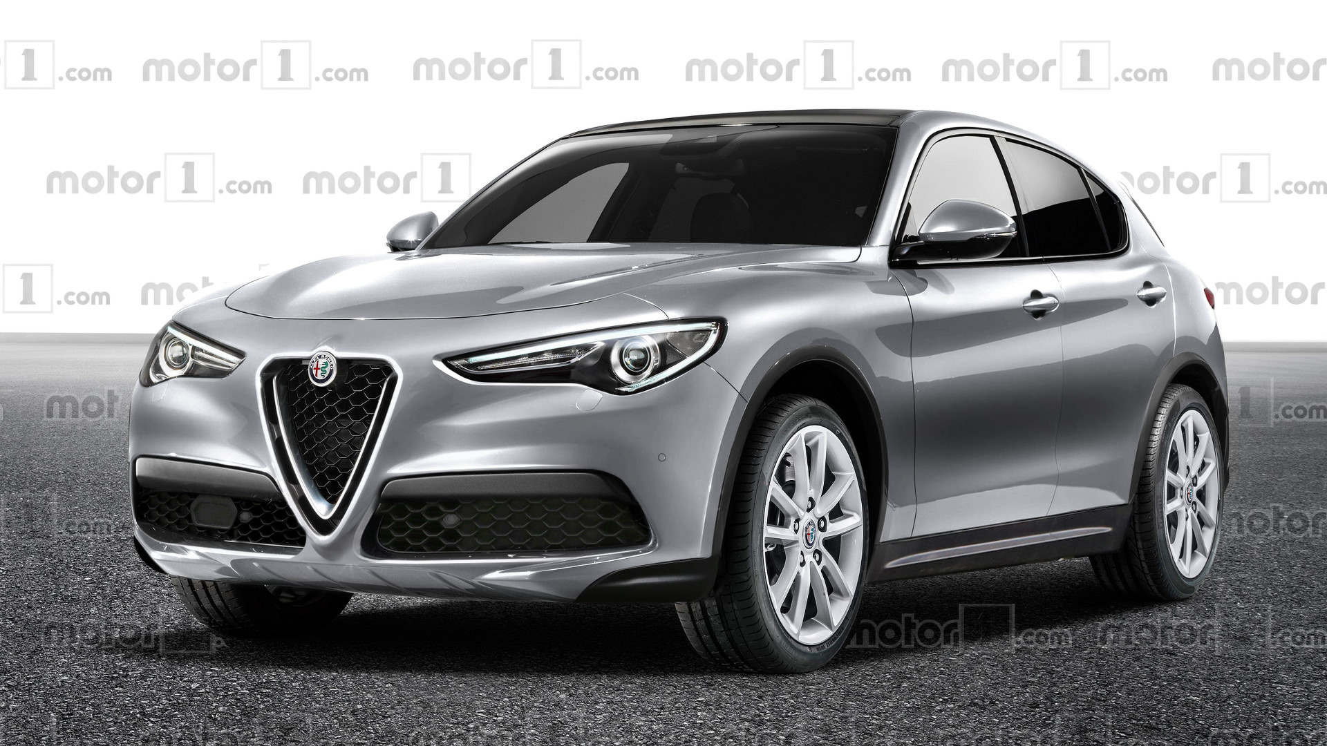 alfa romeo stelvio rendered in cheaper trim. Black Bedroom Furniture Sets. Home Design Ideas