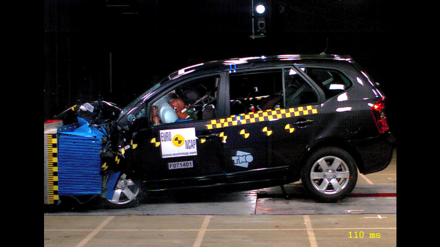 Test EuroNCAP su Nissan Qashqai e Kia Carens