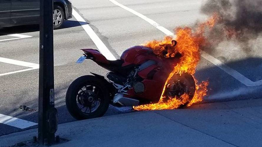 The Panigale V4 is Ducati's Hottest New Bike - Literally