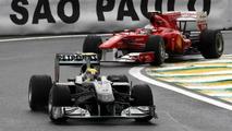 Nico Rosberg (GER), Mercedes GP Petronas leads Fernando Alonso (ESP), Scuderia Ferrari - Formula 1 World Championship, Rd 18, Brazilian Grand Prix, Saturday Qualifying, 06.11.2010 Sao Paulo, Brazil