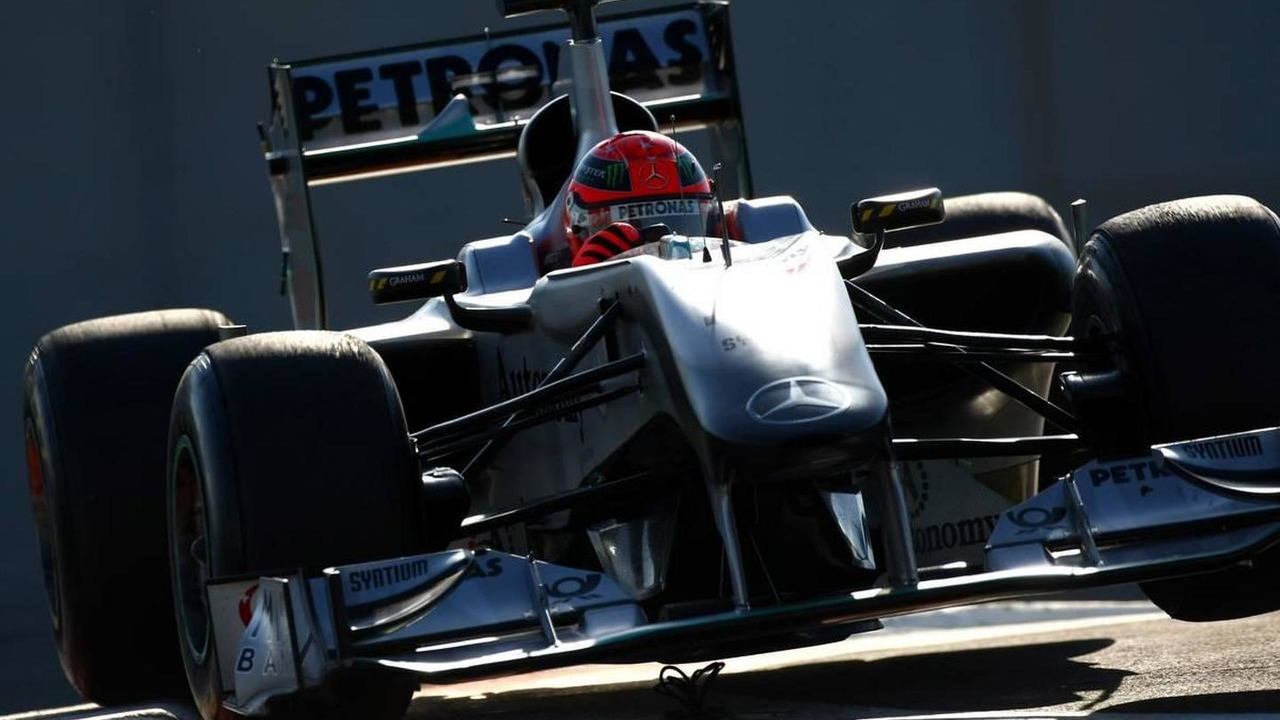 Michael Schumacher (GER), Mercedes GP Petronas cuts the chichane - Formula 1 Testing, Pirelli tire test, 20.11.2010 Abu Dhabi