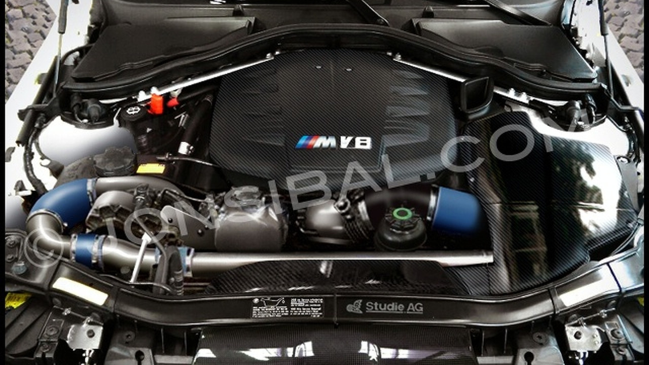 BMW M3 Touring Supercharged V8 Engine - Artists Rendering